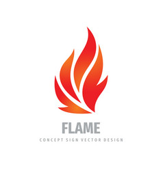 fire logo graphic design flame concept icon vector image