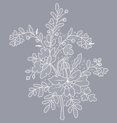 Floral lace tracery vector