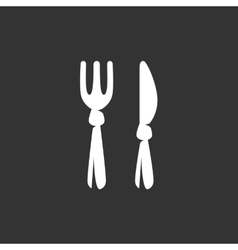 Fork and knife icon logo vector