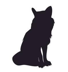 Fox stands silhouette vector