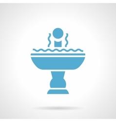Full fountain glyph style icon vector