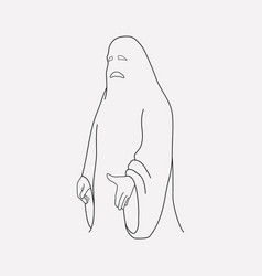 ghost icon line element of vector image