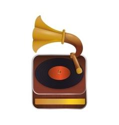 Gramaphone technology retro vintage icon vector