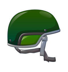 green helmet icon cartoon style vector image