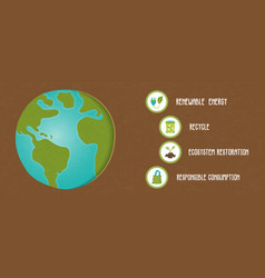 green planet infographic banner template vector image