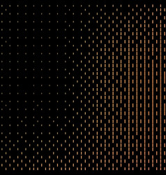 Halftone black background with golden vector