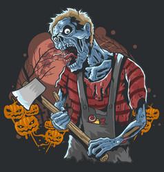 Halloween zombie party artwork vector