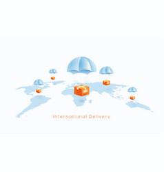 International delivery or world wide shipping vector