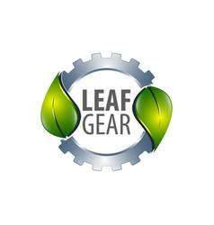 leaf gear logo concept design symbol graphic vector image