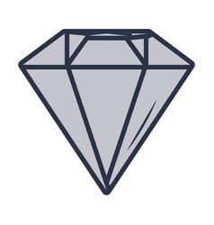 Luxury diamond cartoon vector
