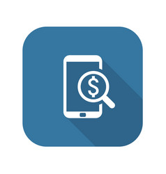 m-commerce icon business concept flat design vector image
