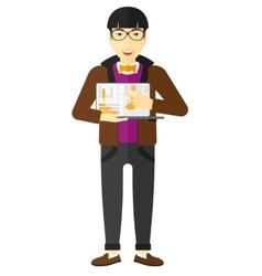 Man presenting report vector image
