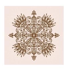 Mandala henna flower vector image