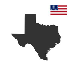 map us state texas vector image