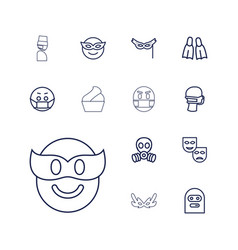 Mask icons vector