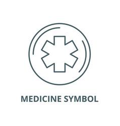 medicine symbol line icon linear concept vector image