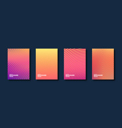 Minimal cover design halftone gradients abstract vector
