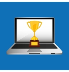 Online education concept trophy award vector