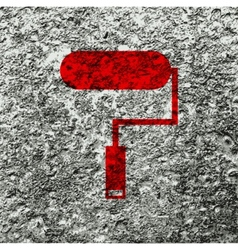Paint roller icon symbol Flat modern web design vector image