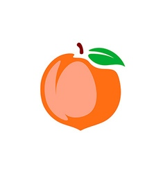 Peach Color cartoon style isolated on a whi vector image