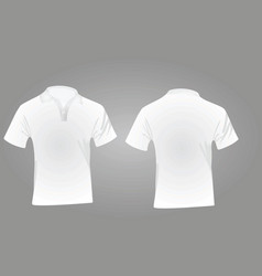 Polo shirt white vector
