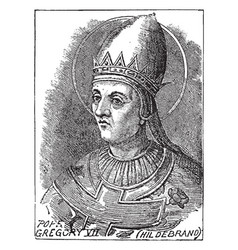 Pope gregory vii vintage vector