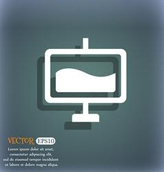 Presentation billboard icon symbol on the vector