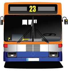 Public bus front vector