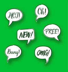 retro comic speech bubbles collection vector image
