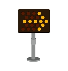 Road sign led right arrow icon vector