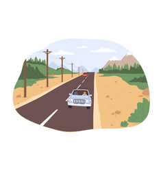 road trip concept freedom movement traveling vector image