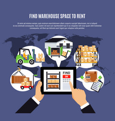 Search warehouse for rent composition vector