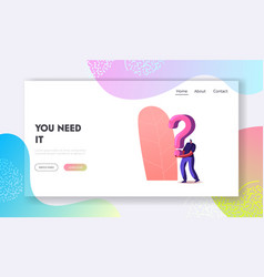 searching solution and information landing page vector image