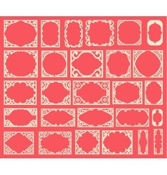 set black vintage frames design elements vector image