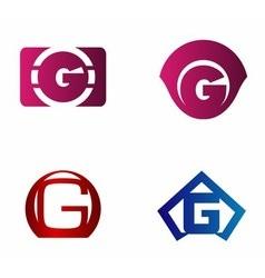 Set of letter G logo icons design template element vector image