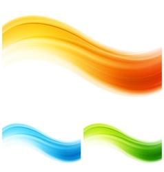 shiny waves design vector image