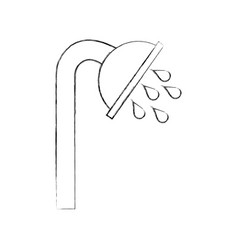 shower tap isolated icon vector image