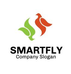 Smart Fly Design vector