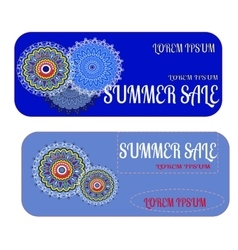 Special offer for sale template with decorative vector image