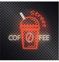 street coffee neon banner vector image