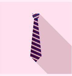 striped tie icon flat style vector image