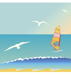 Summer surf vector image
