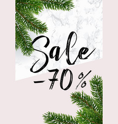 the christmas sale banner marble and pink vector image