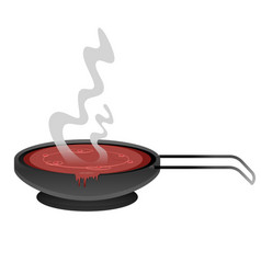 Tomato stew in a pan vector