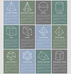 Various form geometric figures vector