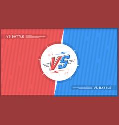 Versus screen design vector