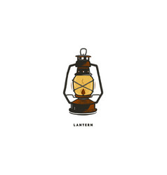 vintage hand drawn lantern concept perfect for vector image