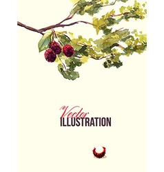 Watercolor with branches vector