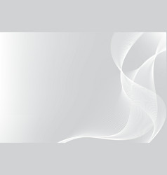 white and gray particle line wave abstract vector image