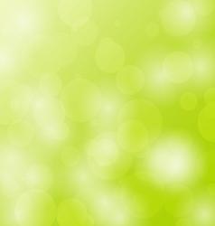 Abstract bokeh circles design on green background vector image vector image
